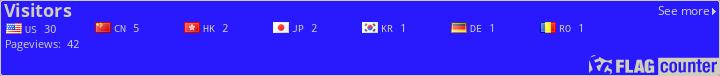 http://s07.flagcounter.com/count/3k5/bg=2919FF/txt=D1CFB8/border=CCCCCC/columns=8/maxflags=20/viewers=0/labels=1/pageviews=1/