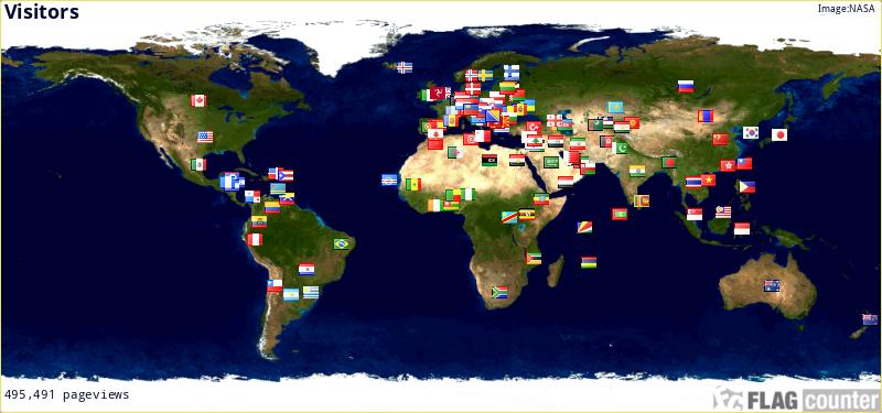 К-сть відвідувачів по країнах.